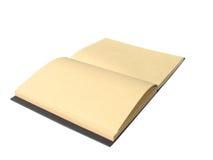 Brown notatnik z odizolowywa Fotografia Stock