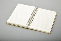 Brown note book, Aluminum texture Stock Photos