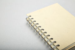 Brown note book, Aluminum texture Royalty Free Stock Images