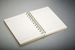 Brown note book, Aluminum texture Stock Photo