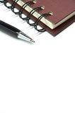 Brown note book isolated with shadow. Background binder blank blue book business clean stock photos