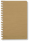Brown note paper Stock Photo