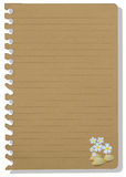 Brown note paper Stock Image