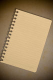 Brown Note Paper On The Old Paper Royalty Free Stock Photos