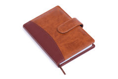 Brown notebook stock photos