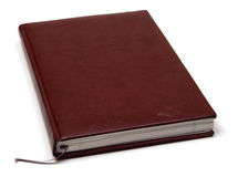 Brown notebook Stock Image