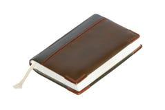 Brown notebook. stock photos