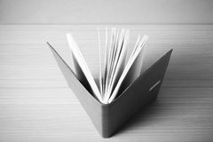 Brown notebook black and white color tone style Stock Photography