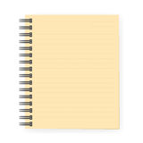 Brown notebook with dotted lines can shred. Royalty Free Stock Photography