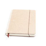 Brown notebook. Isolate on white background Stock Photo