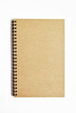 Brown notebook isolated. On white background royalty free stock photography