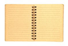 Brown notebook with line 2 page Stock Photography