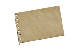 Brown Notebook Paper Stock Image