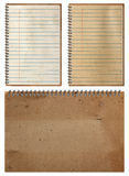 Brown Notebook paper background Royalty Free Stock Photography
