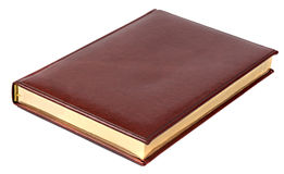 Brown notebook on white background Stock Photo