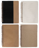 Brown notepad right page Stock Photo