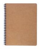 Brown-Notizbuch Lizenzfreie Stockbilder
