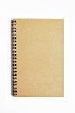 Brown-Notizbuch getrennt Lizenzfreie Stockfotografie