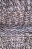 Brown wełny dziewiarska tekstura Zdjęcia Royalty Free