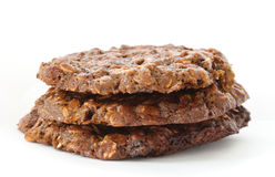 Brown oatmeal cookies Royalty Free Stock Photos