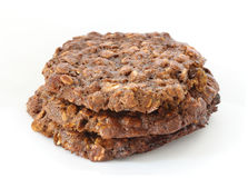Brown oatmeal cookies Stock Photos