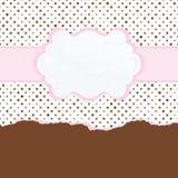 Brown och rosa tappningkortmall. EPS 8 Royaltyfri Bild