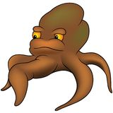 Brown Octopus Stock Image