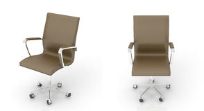 Brown office chair. On white background Royalty Free Stock Photo