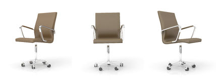 Brown office chair. On white background Royalty Free Stock Photography