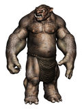 Brown ogre monster Royalty Free Stock Photos