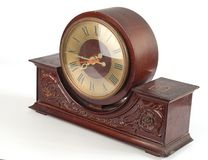 Brown old clock Royalty Free Stock Image