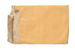Brown old envelope Royalty Free Stock Images