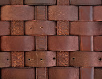 Brown old leather straps Stock Images