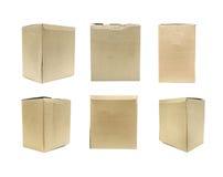 Brown Old packaging cardboard Stock Photo