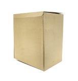 Brown Old packaging cardboard Royalty Free Stock Photos