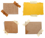Brown old paper note background Royalty Free Stock Photos
