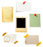 Brown old paper note background Royalty Free Stock Photo