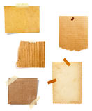 Brown old paper note background Royalty Free Stock Images