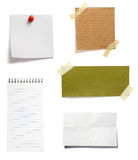 Brown old paper note background Stock Photo
