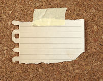 Brown old paper note background cork board Stock Photos