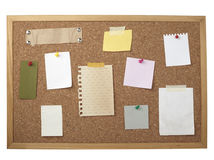 Brown old paper note background cork board Royalty Free Stock Photography
