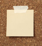 Brown old paper note background cork board Stock Photography