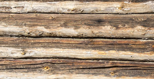 Brown old plank table. Exterior Stock Photo