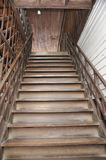 Brown Old Style Wood Home Ladder Royalty Free Stock Photography