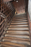 Brown Old Style Wood Ladder Home Royalty Free Stock Photos