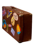 Brown old Suitcase Stock Image