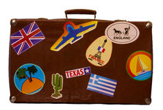 Brown old Suitcase Stock Photo