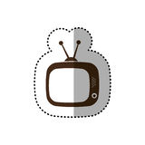 Brown old television with antenna icon. Illustration design Royalty Free Stock Photo