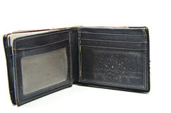 Brown old wallet Royalty Free Stock Images