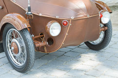 Brown Oldtimer Vintage Car Front Royalty Free Stock Photo